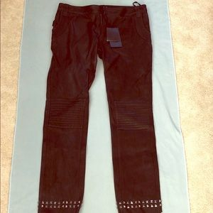 NWT Zaria & Voltaire Leather Pants